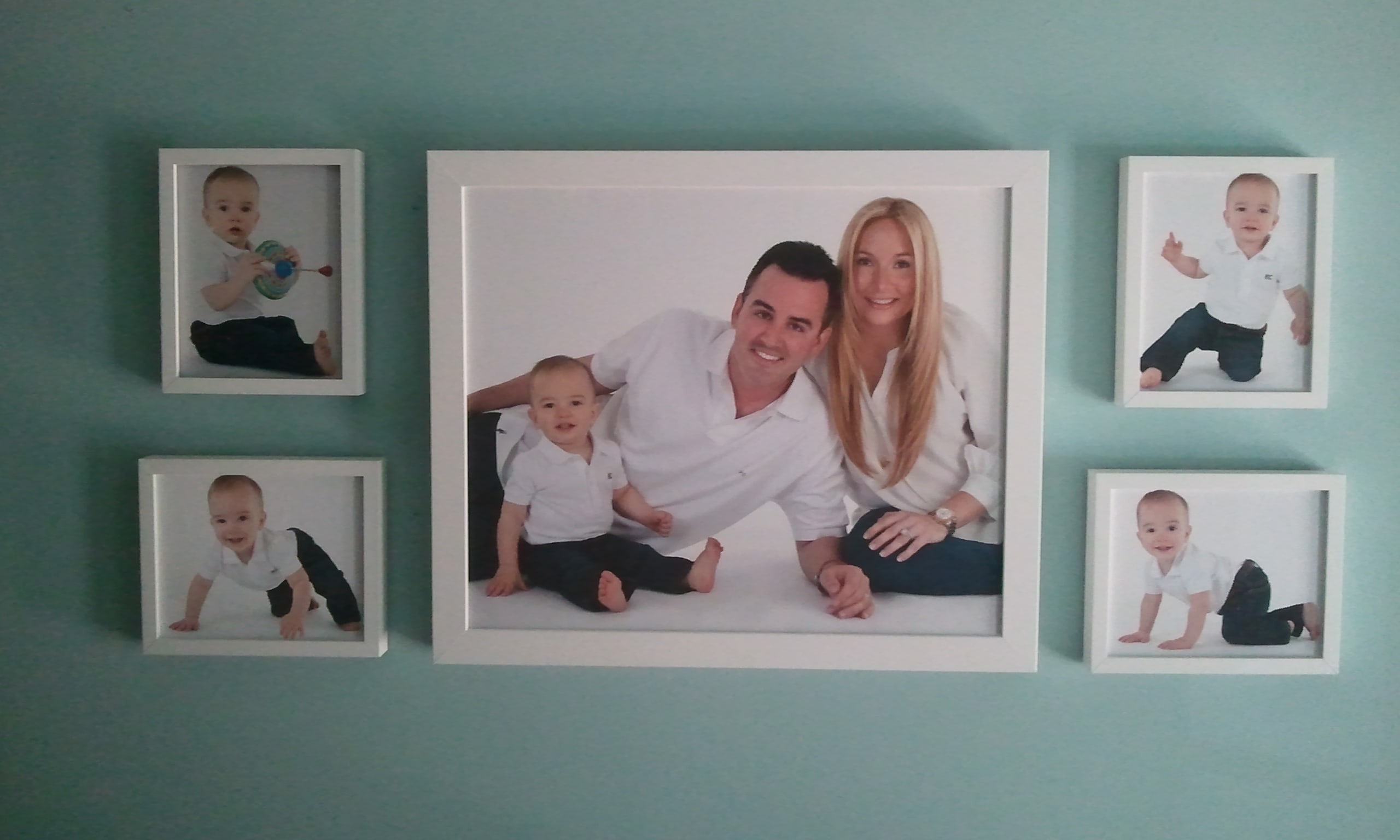Family portrait wall grouping | The Frame Studio